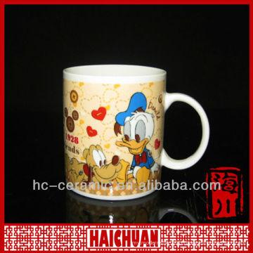 Ceramic donald duck dug, full printing mug