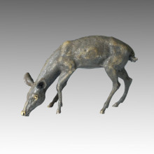 Animal Grand Statue en laiton Deer Bronze Jardin Sculpture Tpal-056