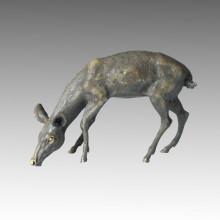 Животное Большой латунный статуя Олень Бронзовый скульптурный сад Tpal-056