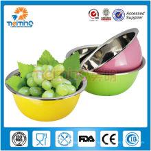 новое поступление высокое качество нержавеющая сталь украсить фруктовый салат/суп миску/тазик