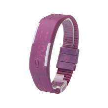 China Uhr Fabrik benutzerdefinierte Handgelenk Genf digitale Uhr für Dame