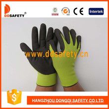 Sallow Nylon with Brown Nitrile Glove-Dnn455