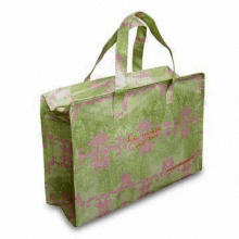 PP Handle Shopping Bag with Matte Lamination/Glossy Finish and Printed Design