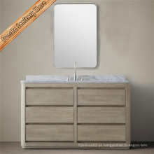 Mobiliário de banheiro de madeira sólida clássica