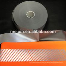 Película de transferencia de calor segmentada reflexiva de alta calidad para hacer rayas diagonales reflexivas para el chaleco de seguridad