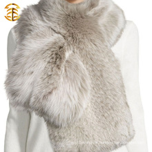 Factory Wholesale Fancy Fur Scarf Made in China Hand Knitted Fox Scarf
