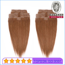 Clip Hair Extension 100% Human Virgin Hair 7PCS/Set Pack Brazilian Hair