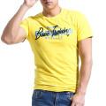 Männer 100 % Baumwolle Kurzarm Silkscreen Print T Shirt