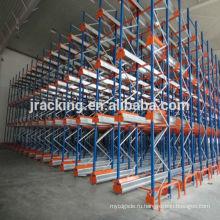Хранение порошка rackJracking живописи экономичная высокая плотность тяжелых зуй металла челнока рейдио паллетные стеллажи