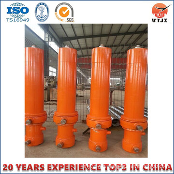 Multi Stage and Long Stroke Cylinder for Dump Truck