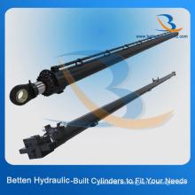 Cilindro de aceite hidráulico telescópico de pistón soldado