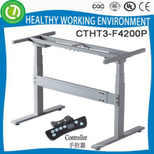 Electric motor Height adjustable study desk frame with 3 columns