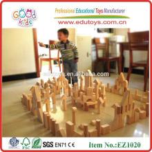 Venta al por mayor 220pcs niños bloques de construcción de madera para preescolar