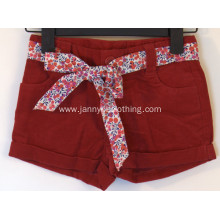 crimson 100% cotton girls shorts