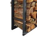 Detachable Indoor Outdoor Metal Firewood Storage Rack