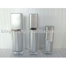 silver square acrylic cosmetic lotion bottle