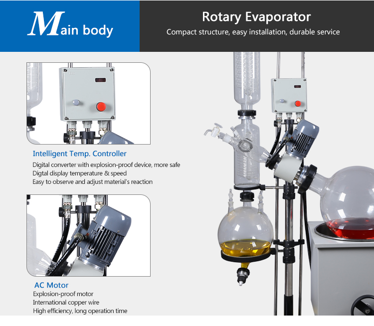 Water Distillation Rotary Evaporator with Water Bath