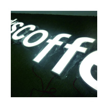 Company signs 3D Acrylic front lit sign Wall logo Lighted Sign channel letter manufacture