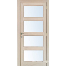 4 Panel Glass Door, Solid Wood Sticking Interior Doors