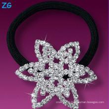 Luxueuse bande de cheveux en mousseline de soie en cristal, bande de mariage en strass, bande de cheveux français