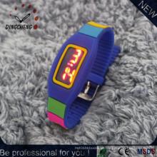 Silicone levou relógios pulseira relógio de pulso (dc-2149)