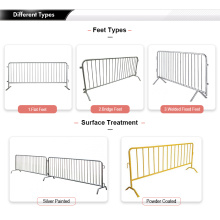 Heavy duty crowd control steel barricades