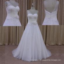 Tomada de fábrica 2014 New Design Wedding Dress Organza