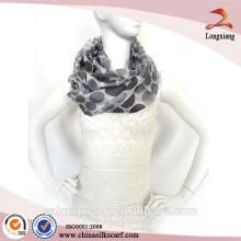 Custom design mulheres impressão digital seda lenço de seda 90x90