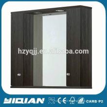 Двухсторонний шкаф с зеркальной подсветкой