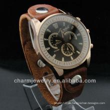 Neuestes echtes Leder Uhren Japan Bewegung Diamant Uhren der Edelstahl zurück Männer Uhr 2015 WL-057