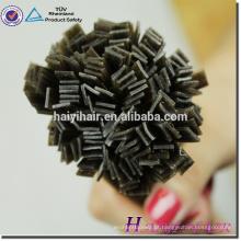 Nova Chegada Últimos 12 Meses Cutícula Dupla Desenhada Alinhada cabelo prebond de ponta plana com karatê italiana