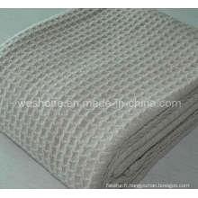 100 % coton tissé couverture