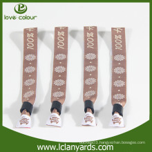 Fabric custom woven polyester Wristband for sport