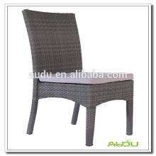 Audu sillas de ratán negro, sillas de cojín azul