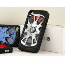 3d Worldauto Tire Silicone + Pc Waterproof Cell Phone Cases For Iphone 4s / 4