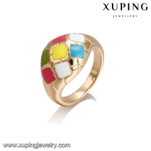 14388 Fashion jewelry finger ring, latest 18k gold color ring designs for girls