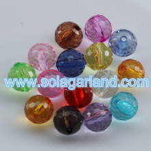6-20MM Acrylic Crystal Faceted Disco Ball Beads Chunky Loose Beads Charms