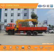 Dongfeng 6*4 truck mounted lifting crane 12tons
