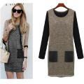 Hot Sale Fashion Elegant Ladies Plus Size Dress (50015)