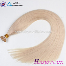 New Arrival Unprocessed Factory Price Top Quality I Tip Keratin Virgin Remy Brazilian Human Hair