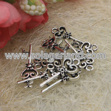 21 * 9MM Antique Silver Key Charms zawieszki Do Making Biżuteria