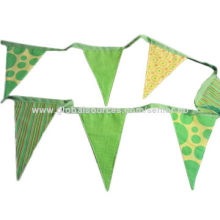 Cotton bunting flag, design printed with customized logo