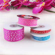 Polka DOT Printed Organza Ribbon