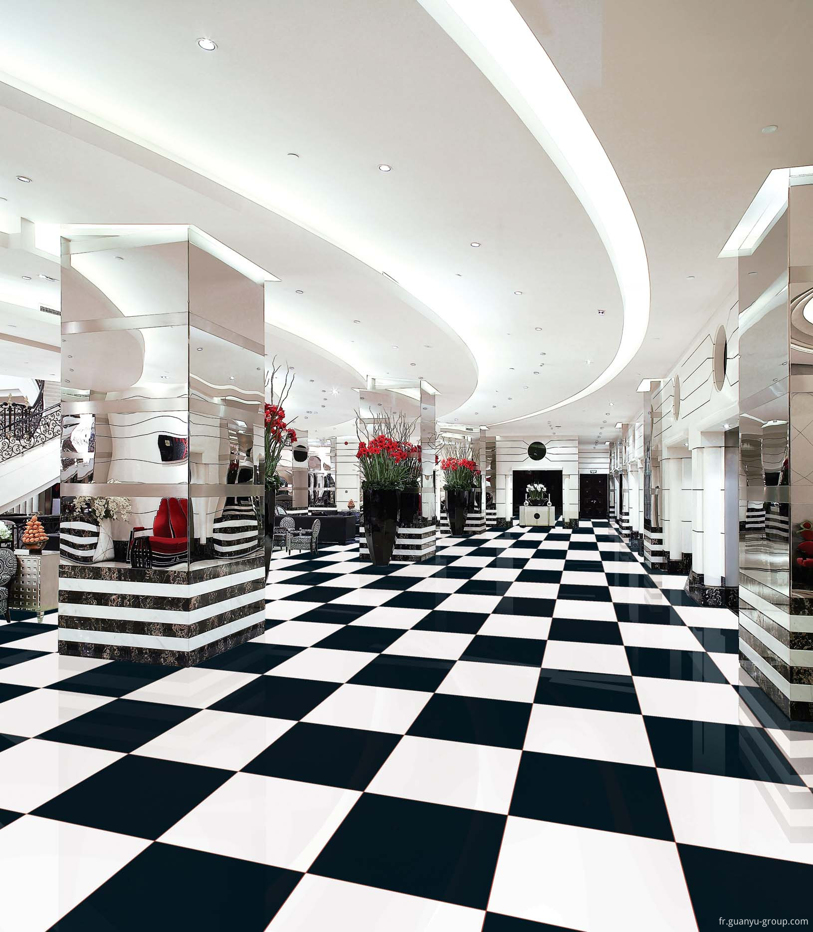 Top Grade Black & White Porcelain Tile