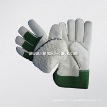 Cow Grain Acrylic Pile Lined Winter Working Glove (3108)