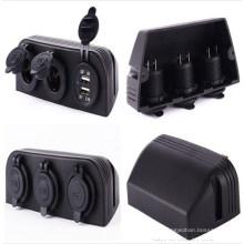 3 легкие морской сплиттер адаптер питания Разъемы / USB зарядное устройство прикуривателя