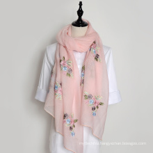 Wholesale hangzhou embroidered neckerchief ladies silk scarf