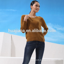 Camisola de bordado de caxemira moderna da mulher
