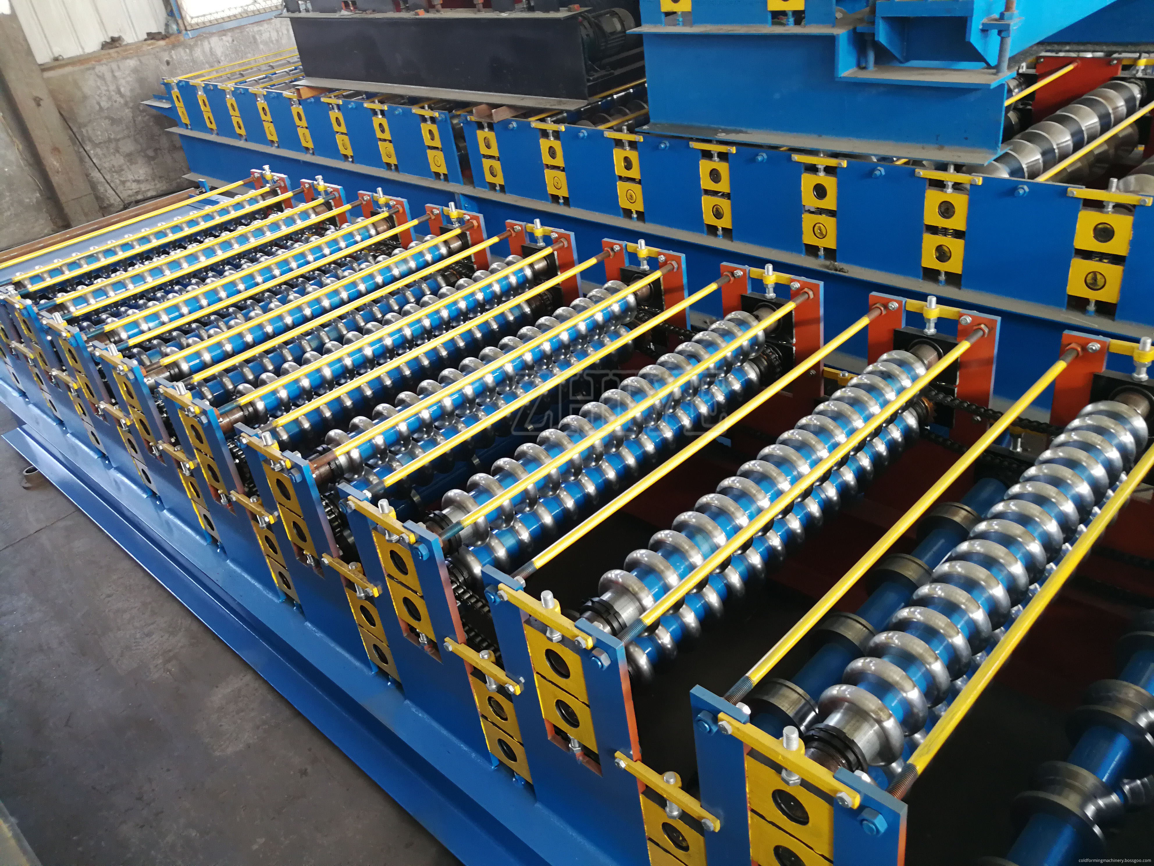 Automatic Double Layer Roofing Tiles Roll Forming Machine