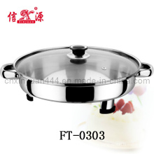 Stainless Steel Buffet Pan with Glass Lid/ Oval Tray (FT-0303)
